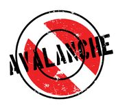 Avalanche rubber stamp Royalty Free Stock Image