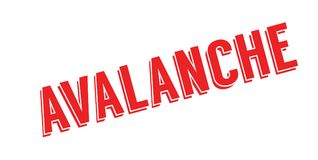 Avalanche rubber stamp Stock Image