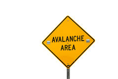 Avalanche Sign Stock Photography