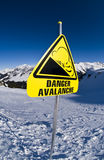 Avalanche, sign in mountain Royalty Free Stock Image