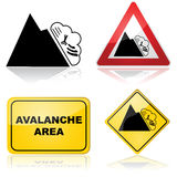Avalanche signs royalty free stock image