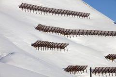 Avalanche snow bridge near a ski-resort in Austria's Skiwelt Royalty Free Stock Image
