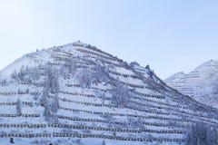 Avalanche snow bridge near a ski-resort in Austria's Skiwelt, su Stock Images