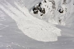 Avalanche view from above. Royalty Free Stock Photos