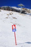 Avalanche Warning Sign, Italy Royalty Free Stock Photography