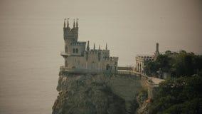 Avalez le symbole de château de nid du ` s de la Crimée banque de vidéos