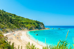 Avali beach, Lefkada island, Greece Stock Photos