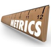 Avaliação da metodologia de sistema da medida da régua da palavra do medidor ilustração do vetor