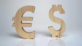 Avaliação da troca Euro do sinal de moeda, dólar Fotografia de Stock