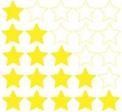 Avaliação das estrelas isolada no fundo branco Fotografia de Stock Royalty Free