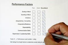Avaliação de desempenho total 3 Imagem de Stock Royalty Free