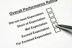 Avaliação de desempenho total Foto de Stock Royalty Free