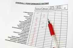 Avaliação de desempenho total fotos de stock royalty free