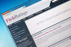 Avaliação de Fitch Foto de Stock