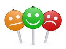 Avaliação de qualidade do negócio do feedback de cliente ilustração stock