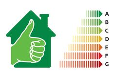 Avaliação de uso eficaz da energia da casa Imagem de Stock Royalty Free