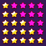 A avaliação do jogo do espaço stars botões dos ícones Imagens de Stock