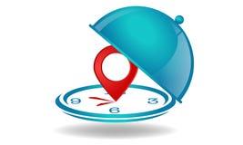 Avaliação do restaurante com horas ilustração stock