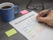 Avaliação dos indicadores de desempenho chaves Fotografia de Stock Royalty Free