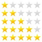 Avaliação dourada das estrelas Foto de Stock Royalty Free