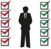 A avaliação exam opções O voto ilustração stock