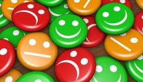 Avaliação feliz do feedback de cliente ilustração stock