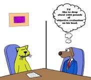 Avaliação objetiva ilustração do vetor