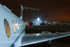 Avaliação representativa do avião interior. Fotografia de Stock