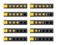 A avaliação stars botões Foto de Stock Royalty Free