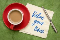 Avalie seu lembrete do tempo fotos de stock royalty free