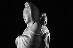 Avalokitasvara Bodhisattva, Guan Yin/Guanshiyin rzeźba/ Obrazy Royalty Free