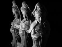 Avalokitasvara Bodhisattva, Guan Yin/Guanshiyin rzeźba/ Fotografia Stock