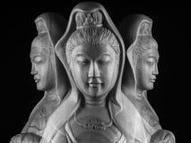 Avalokitasvara Bodhisattva, Guan Yin/Guanshiyin rzeźba/ Zdjęcie Stock