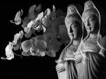 Avalokitasvara Bodhisattva, Guan Yin/Guanshiyin rzeźba/ Obrazy Stock