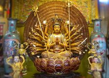 Avalokitasvara De pagode van Guanyinboedha is duizend handen Guan yin stock foto's