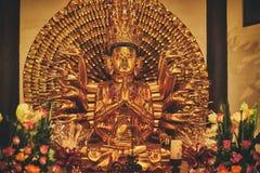 Avalokiteshvara statue. In a buddhist temple Stock Photography