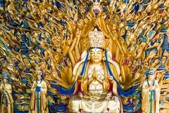 Avalokitesvara用一千只手 图库摄影