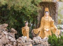 Avalokitesvara στον κήπο στο βουδιστικό ναό Lai του, Καλιφόρνια Στοκ Φωτογραφία