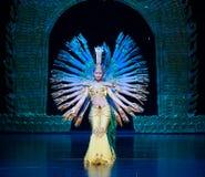 Avalokitesvara Dance. December 28, 2012, in Nanchang, China Disabled Art Troupe performing dance Avalokitesvara Stock Photography