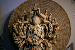 Avalokitesvara. Dunhuang gansu the mogao grottoes thousands hands Avalokitesvara Stock Photos