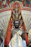 Avalokitesvara -从Ladakh的一千个手菩萨雕象 免版税库存图片