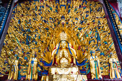 "Avalokitesvara with Thousand Hands. His sculpture is called ""Avalokitesvara with Thousand Hands"", Built in A.D. 1174- 1282. It has indeed 1007 hands and in Stock Image"