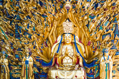 "Avalokitesvara with Thousand Hands. THis sculpture is called ""Avalokitesvara with Thousand Hands"", Built in A.D. 1174- 1282. It has indeed 1007 hands and in Stock Photography"