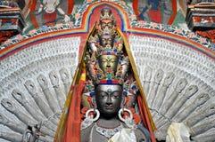 Avalokitesvara - Tysiąc ręki Buddha statui od Ladakh Zdjęcia Stock