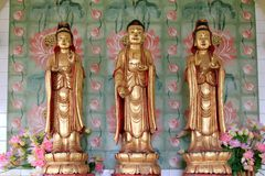Avalokiteswara - Kuan Yin Statues Stock Photos