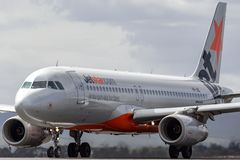 Jetstar Airways Airbus A320-232 airliner aircraft VH-JQL on the runway. royalty free stock image