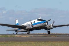 De Havilland Australia DHA-3 Drover VH-ADN small transport aircraft that was built by de Havilland Australia in the 1940s and 1950. Avalon, Australia - March 2 stock photo