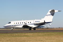 Gulfstream Aerospace G280 twin-engine luxury business jet aircraft N280GD. stock photography