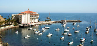 Avalon Bay Catalina Casino Royalty Free Stock Photos
