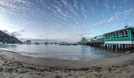 Avalon Bay Santa Catalina Island at Twilight Royalty Free Stock Photo